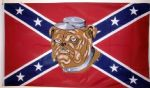 REBEL BULLDOG (CONFEDERATE) - 5 X 3 FLAG